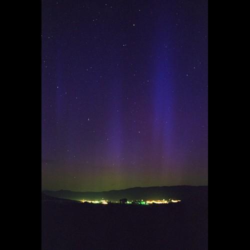 Blue Aurora Over Steamboat Springs, Colorado