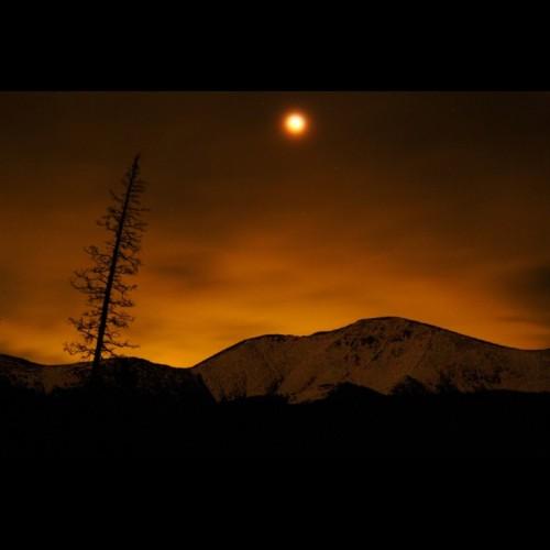 Total Lunar Eclipse Over Winter Park, Colorado