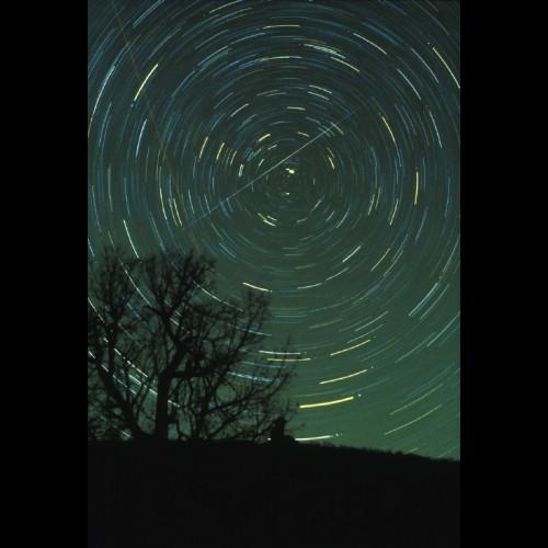 Geminid Meteor Over Brasstown Bald, Georgia